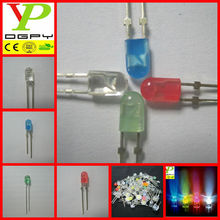 single blinking 5mm oval led diode(red/green/blue/yellow/orange/purple/bi-color/RGB etc)