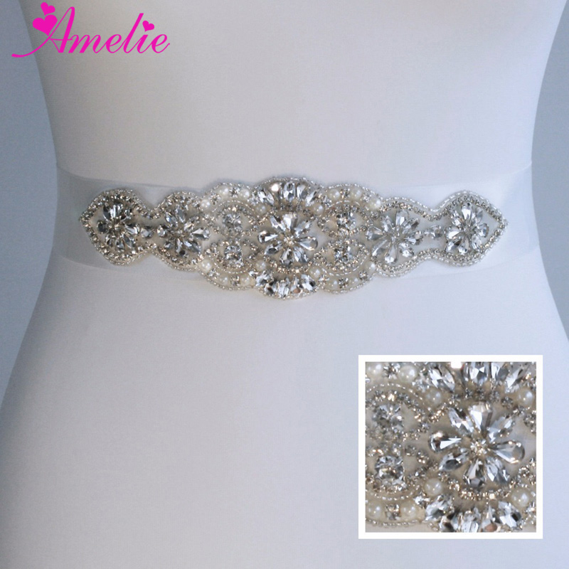 Sparkle Rhinestone Wedding Bridal Sashes Belts Crystal Women Waistband Evening Party Prom Dresses Accessories Belt With Ribbon