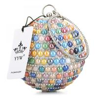 for Clutch Bag attached hanging strap Tiny glass beads with rhinestone multi-colored 113193
