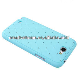 Luxury Bling Diamond Encrusted Plastic Case for Samsung Galaxy Note II / N7100