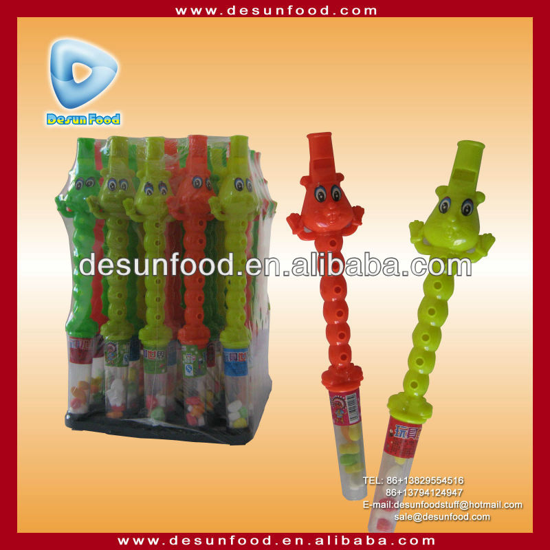 Bear flute/whistle tube candy toy candy