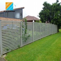 Modern Aluminum Solid Fence Panels