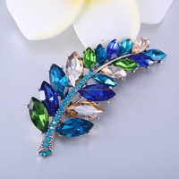Spanish leaf shape magnet brooch/broches for women