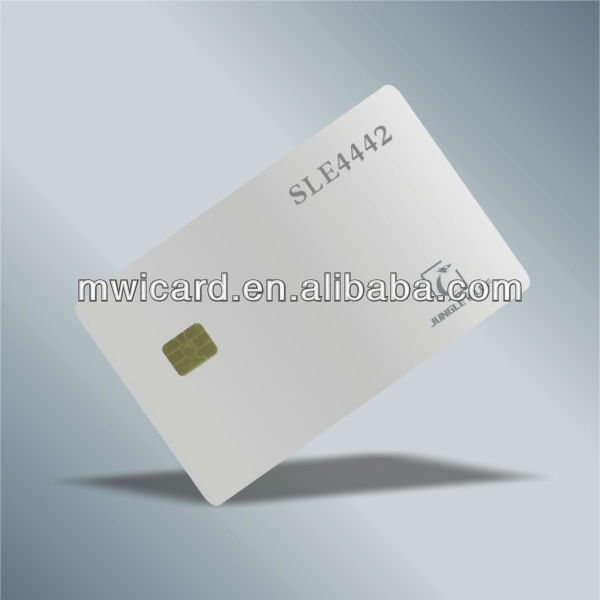 Blank White Card with Chip FM4442 + Track 2 Hico Blank Magnetic Stripe
