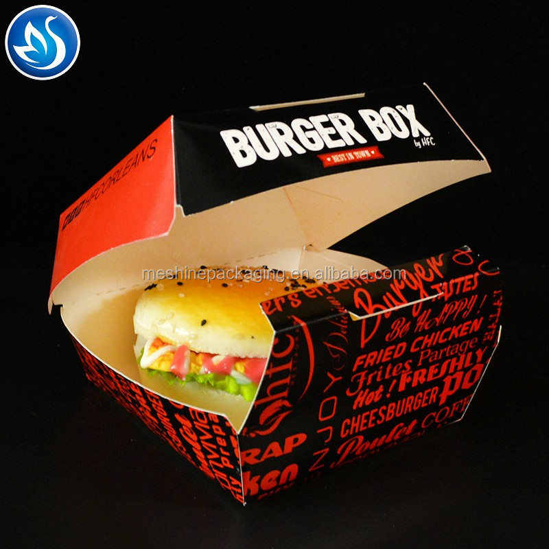 Custom printing paper burger container
