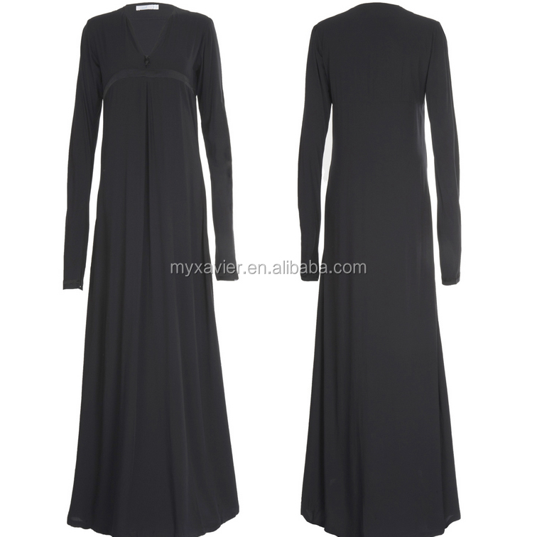 Best selling Islamic fashionable new Classic Black dubai abaya new design dubai women abaya