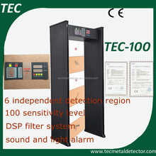Best sell walk through metal detector easy to use TEC-100