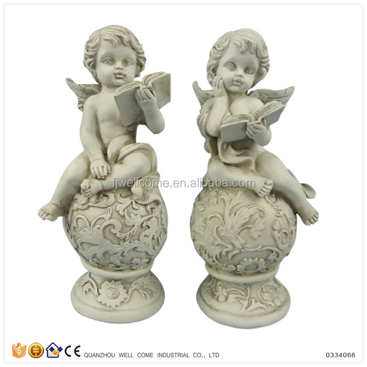 Hot Sale Little Angels Models Reading Book Figurines