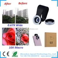 camera wide angel lense manufacturers 0.67x wide angle 10x macro lens camera lens for samsung galaxy s4