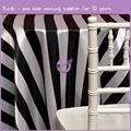 MY4278G facny wedding 5 cm white and black stripe satin table cloth