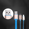 Innovative products to import colorful 2 in 1 zipper usb data charging cable