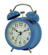 "2017 hot sell good looking 3""Blue Twin Bell Alarm Clock for bedroom"