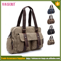 Canvas messenger bag business document briefcase handbag for men with low price