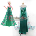 Adult Princess Elsa Dress Fancy Summer Dress Women Carnival Cosplay Costume Custom Made