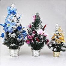 2017 New 60cm Purple mini decorated live christmas trees