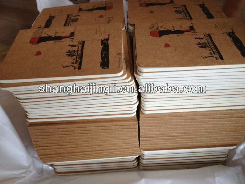 Kraft paper exercise notebook design with line inner pages