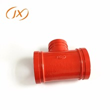 China supplier approved fire fighting pipe reducing tee