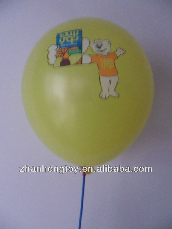 advertising printed balloon/shaped latex round printed party balloons/custom printed latex balloons