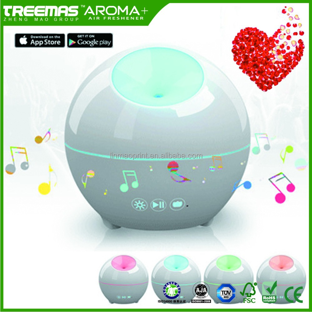 Electric essential oil diffuser for mond improvement with bluetooth APP control aroma diffuser