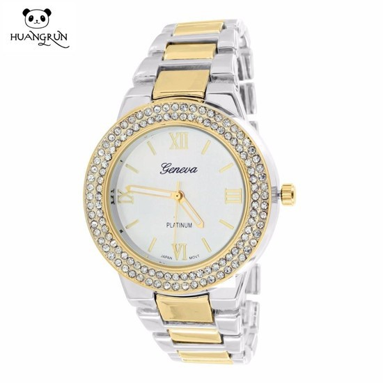 Japan movt mens cz stone quartz watch