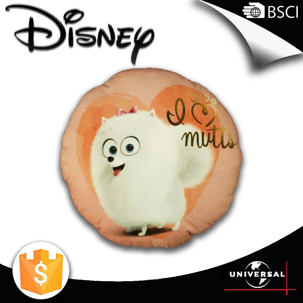 Disney factory 2016 New arrivel round shape fancy cushion covers satin