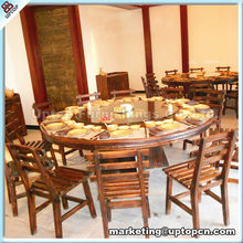 Antique solid wood dining tables and chairs for restaurant (SP-CS127)