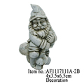Mini Santa Claus Resin Crafts Figurine Garden Decor