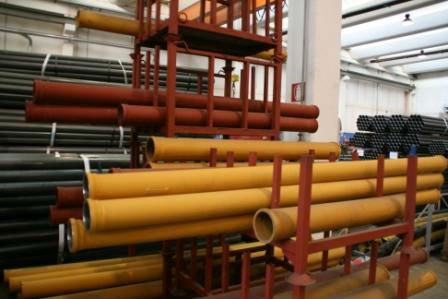 pipelines for concrete pumps and delivery lines