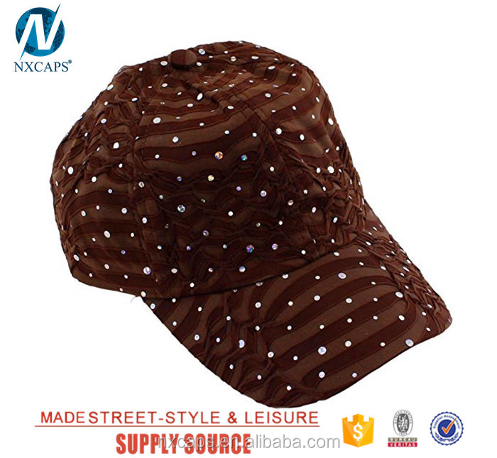 Custom glitter baseball hats 6 panel bling hat cap fashion sexy girls hats and caps wholesale