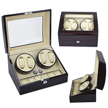 2 Motors 4+6 Automatic Rotation Wood Watch Winder