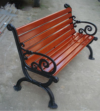 Public service commercial wooden garden bench/chair