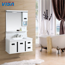 Durable modern luxury pvc bathroom vanity cabinet