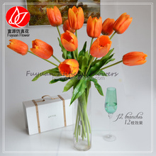 140493 artificial flower for home and wedding decoration tulip names of orange flowers