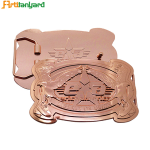 Low Price Rose Gold Belt Buckle Custom Manufacturers