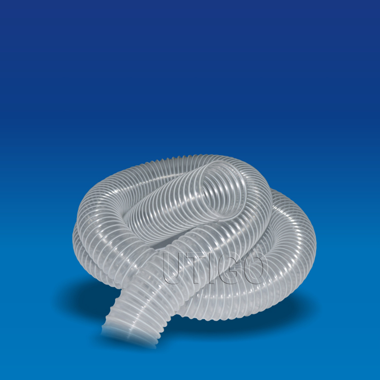 Flexible transparent steel wire reinforced pvc hose