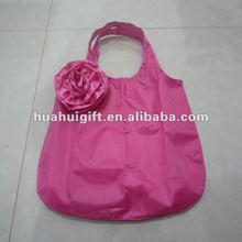 flower reusable shopping bag folding nylon bag