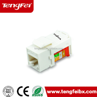 High performance with best quality cat5e utp keystone jack data module telecom product