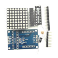 KJ295-B	MCU control module MAX7219 dot matrix module display module DIY kit
