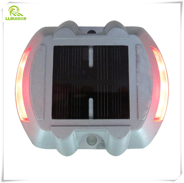 Driveway safety horseshoe shape aluminum LED solar road stud reflectors