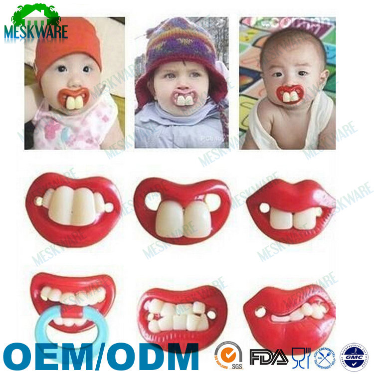 Funny BPA free and safe custom silicone baby pacifier mold