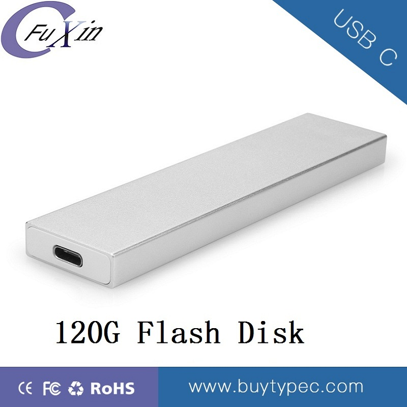 External Portable Aluminum SSD 120 GB Flash Drive Wholesale