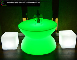 Rechargeable Illuminated led round bar counters design made in China