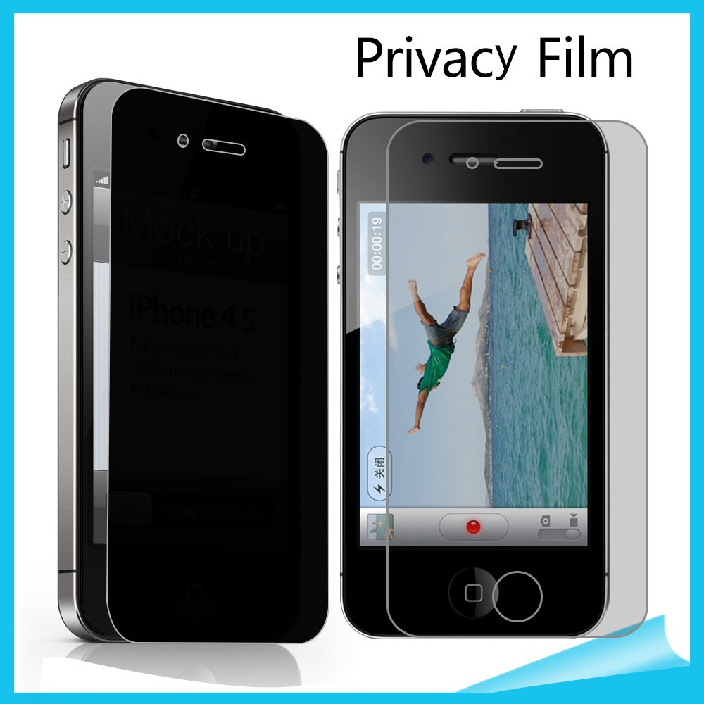 China supply privacy screen protector/guard/film for apple iphone 4 mobile phone