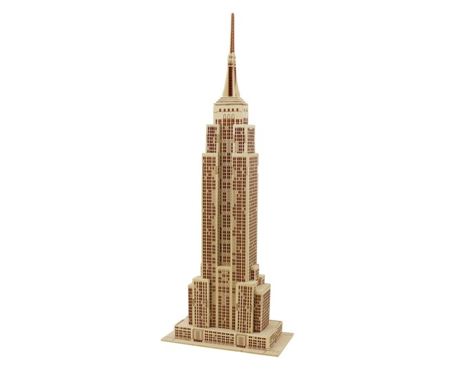 DIY Handmade 3D Wooden Puzzle Model -Empire State Building for hobby