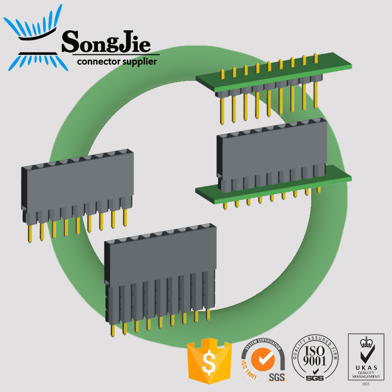 samtec pcb connector 2.54mm pitch elevator pin header female male
