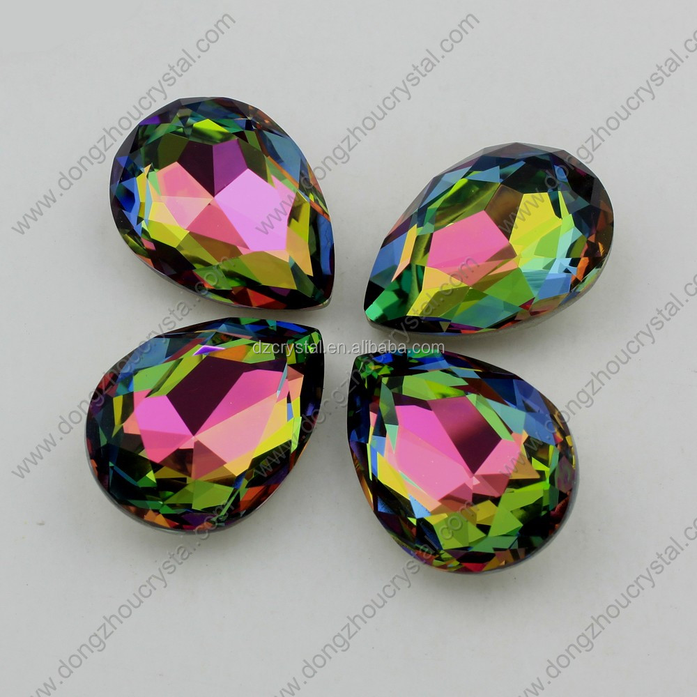 Fancy stone for jewelry tear drop shape rhinestones for dress