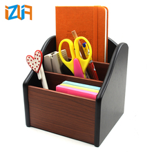 Multifunction wooden remote control holder mobile phone stand storage holder