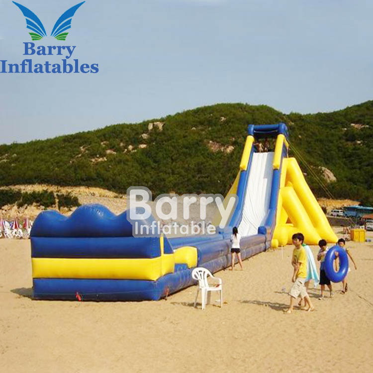 Cheap inflatable water slides for sale , yellow water slide giant inflatable