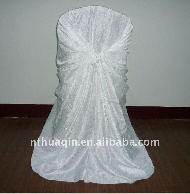 wedding and banquet crushed taffeta chair cover universal chair cover