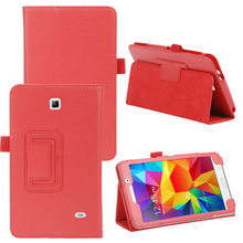 Leather Folding Folio Stand Case Cover Pouch 7 inch Tablet PC Cases for Samsung Galaxy Tab 4 7.0 T230 T231